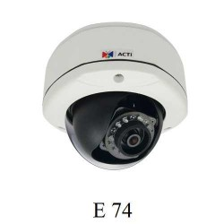 3MP Full HD Dome Kamera, D/N, IR, WDR, Sabit lens E74